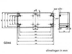 waterbestendige abs-behuizing - donkergrijs 195 x 80 x 55mm - g346