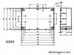 waterbestendige abs-behuizing - donkergrijs 222 x 146 x 75mm - g353