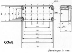 waterbestendige abs-behuizing - donkergrijs 160 x 80 x 55mm - g368
