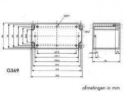 waterbestendige abs-behuizing - donkergrijs 160 x 80 x 85mm - g369