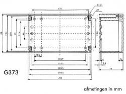 waterbestendige abs-behuizing - donkergrijs 200 x 120 x 75mm - g373