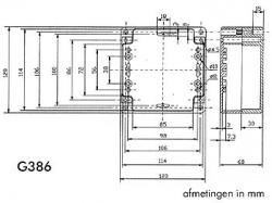 waterbestendige abs-behuizing - donkergrijs 120 x 120 x 60mm - g386