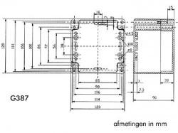 waterbestendige abs-behuizing - donkergrijs 120 x 120 x 90mm - g387