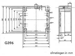 waterbestendige abs-behuizing - donkergrijs 160 x 160 x 60mm - g396
