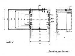 waterbestendige abs-behuizing - donkergrijs 160 x 160 x 90mm - g399