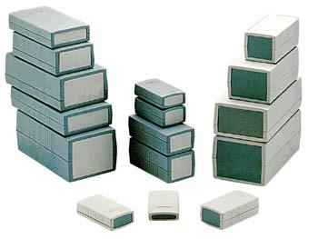 behuizingen van gegoten plastic - donkergrijs 190 x 100 x 40mm - g421