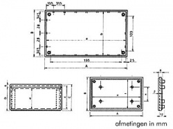 cover behuizing - grijs 215 x 130 x 82.9mm - tkcp4g