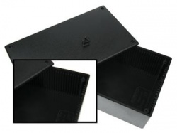 plastic behuizing - zwart 200 x 110 x 65mm - wcah2852