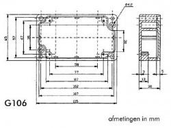 waterdichte aluminium behuizing - 115 x 65 x 30mm - g106