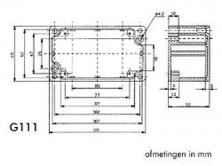 waterdichte aluminium behuizing - 115 x 65 x 55mm - g111