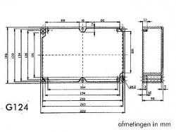 waterdichte aluminium behuizing - 222 x 146 x 55mm - g124