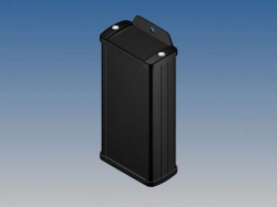 aluminium behuizing - zwart - 125 x 59.9 x 30.9 mm - met flens - tk13-e.9