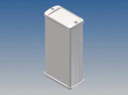 aluminium behuizing - wit - 125 x 59.9 x 30.9 mm - tk13.7