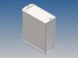 aluminium behuizing - wit - 100 x 85.8 x 36.9 mm - tk21.7