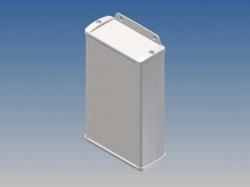 aluminium behuizing - wit - 145 x 85.8 x 36.9 mm - met flens - tk22-e.7