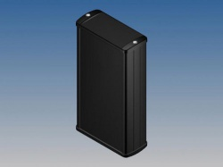 aluminium behuizing - zwart - 160 x 85.8 x 36.9 mm - tk23.9