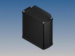 aluminium behuizing - zwart - 110 x 105.9 x 45.8 mm - met flens - tk31-e.9