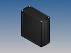 aluminium behuizing - zwart - 110 x 105.9 x 45.8 mm - tk31.9