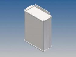 aluminium behuizing - wit - 145 x 105.9 x 45.8 mm - met flens - tk32-e.7