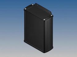 aluminium behuizing - zwart - 145 x 105.9 x 45.8 mm - met flens - tk32-e.9