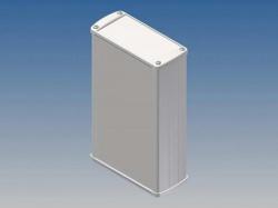 aluminium housing - white - 175 x 105.9 x 45.8 mm - tk33.7