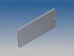 aluminium paneel voor tekam 2 - zilver - 85.8 x 36.9 x 2 mm - tkallp2.1