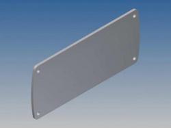 aluminium paneel voor tekam 3 - zilver - 105.77 x 45.8 x 2 mm - tkallp3.1