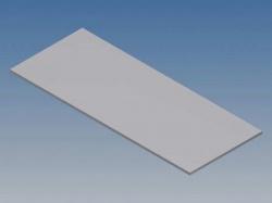 aluminium paneel voor 10001 / mc 11 - zilver - 77 x 31 x 1 mm - tkapp11.1