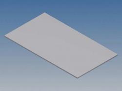 aluminium paneel voor 10002 / mc 12 - zilver - 77 x 42.5 x 1 mm - tkapp12.1