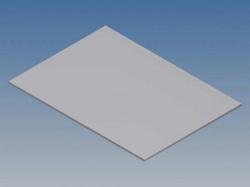 aluminium paneel voor pro 96 - zilver - 265 x 156 x 1.5 mm - tkapp96.1