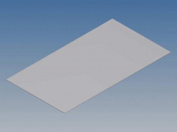 aluminium paneel voor tk-reeks - zilver - 130.6 x 72 x 0.5 mm - tkapptk1