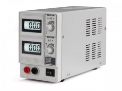dc-labovoeding 0-15 vdc / 0-3 a max met dubbel lcd-scherm - labps1503