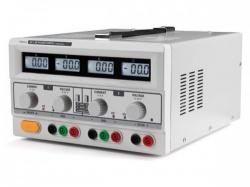 dubbele dc-labovoeding - 2 x 0-30 vdc / 0-3 a + 5 vdc vast / 3 a max met 4 lcd-schermen - labps23023