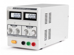 dc-labovoeding 0-30 vdc / 0-3 a max met dubbel lcd-scherm - labps3003