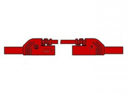 contact protected measuring lead 4mm 50cm / red (mlb-sh/ws 50/1) - hm0411s50a