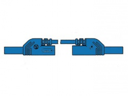 contact protected injection-moulded measuring lead 4mm 25cm / blue (mlb-sh/ws 25/1) - hm0421s25a