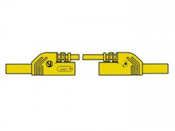 contact protected measuring lead 4mm 50cm / yellow (mlb-sh/ws 50/1) - hm0431s50a