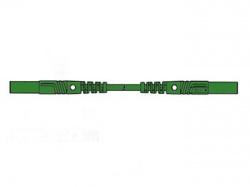 meetsnoer met contactbeveiliging 1m, groen, rechte bus 4mm - mlb/gg-sh25/1 - hm0441s100
