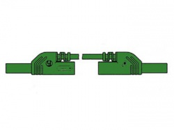 contact protected measuring lead 4mm 50cm / green (mlb-sh/ws 50/1) - hm0441s50a