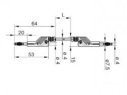 meetsnoer 4mm 100cm / geel (mln-sil 100/1) - hm4030100