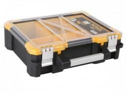 plastic opbergkoffer met verwijderbare bakjes - 380 x 340 x 110 mm - osc15