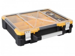 plastic opbergkoffer met verwijderbare bakjes - 490 x 420 x 115 mm - osc19