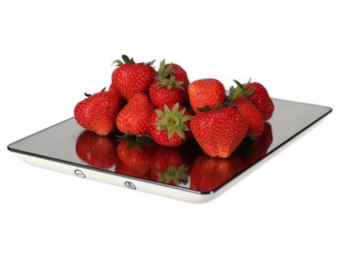 digitale keukenweegschaal - 5 kg / 1 g - spiegeleffect - vtbal101
