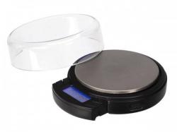 digitale mini precisieweegschaal - rond - 500 g / 0.1 g - met uitschuifbaar lcd-display - vtbal403