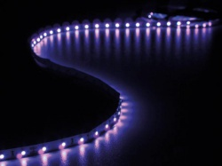 kit met flexibele led-strip en voeding - ultraviolet - 300 leds - 5 m - 12vdc - zonder coating - leds16uv