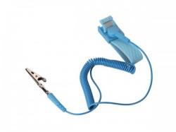 antistatische polsband - verstelbaar - blauw - as3n