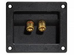 dubbele luidsprekeraansluiting - vierkant - verguld - lsc7g