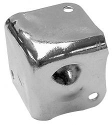 bescherming voor luidsprekerbehuizing, wit metaal, 38 x 38mm x 90° - vdac22