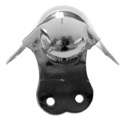 bescherming voor luidsprekerbehuizing, wit metaal, 65mm x 90° - vdac26