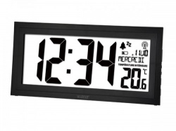 dcf-klok met kalender, temperatuur en alarm - ws8010